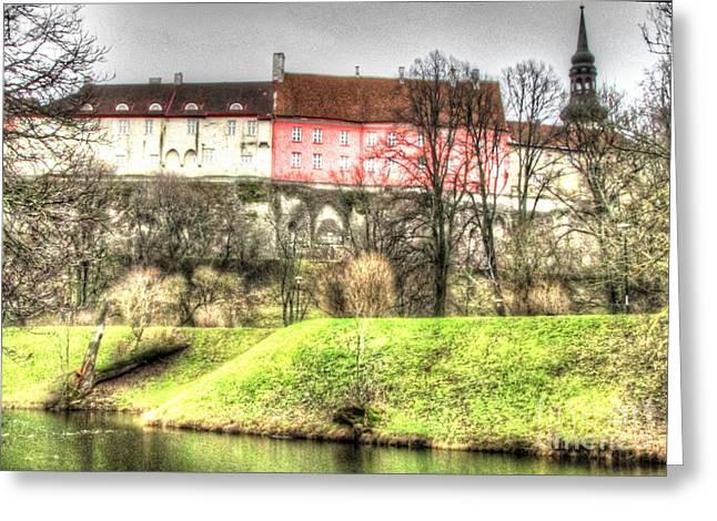 Tallinn Pyrography Greeting Cards - Tallinn  Estonia castl Greeting Card by Yury Bashkin