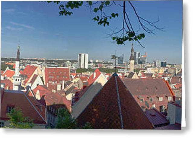 Nicholas Greeting Cards - Tallinn Estonia panorama 1 Greeting Card by Rudi Prott