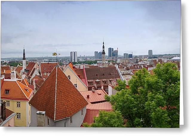Nicholas Greeting Cards - Tallinn Estonia panorama 3 Greeting Card by Rudi Prott