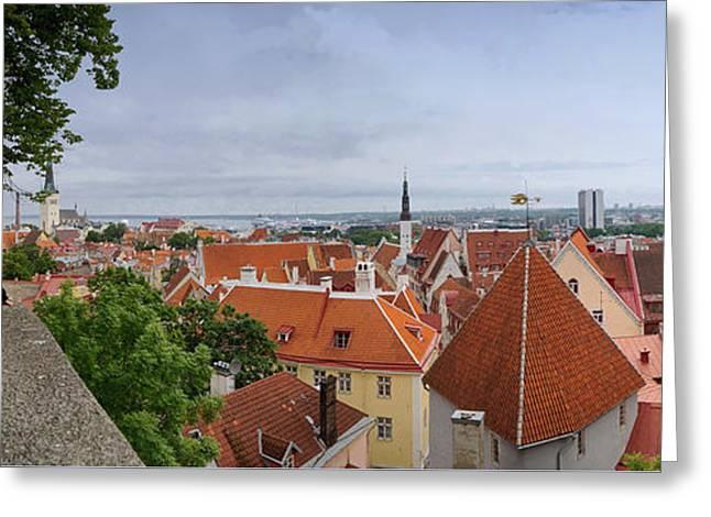 Nicholas Greeting Cards - Tallinn Estonia panorama 3 Greeting Card by Rudi Prott