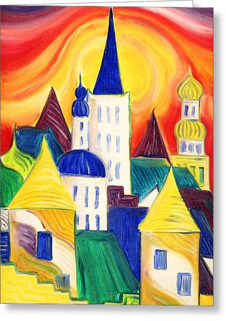 Tallinn Greeting Card by Kate Shannon