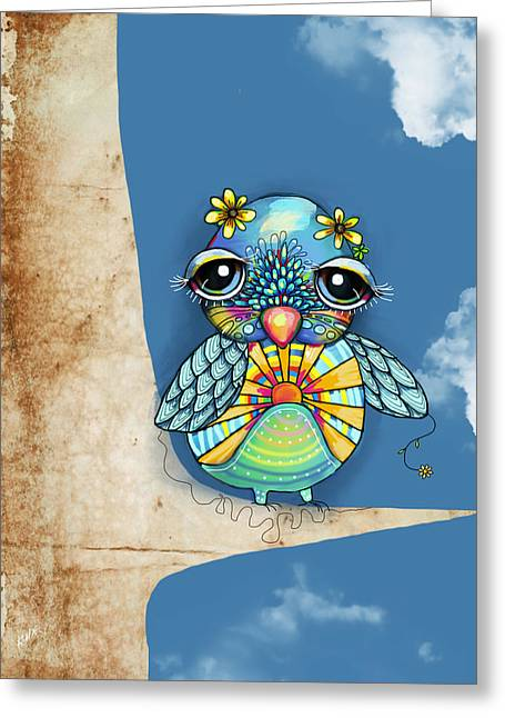 Tallulah Sunshine Greeting Card by Karin Taylor