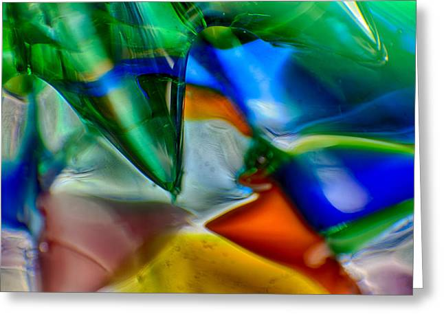 Colorful Photos Glass Art Greeting Cards - Talons Verde Greeting Card by Omaste Witkowski