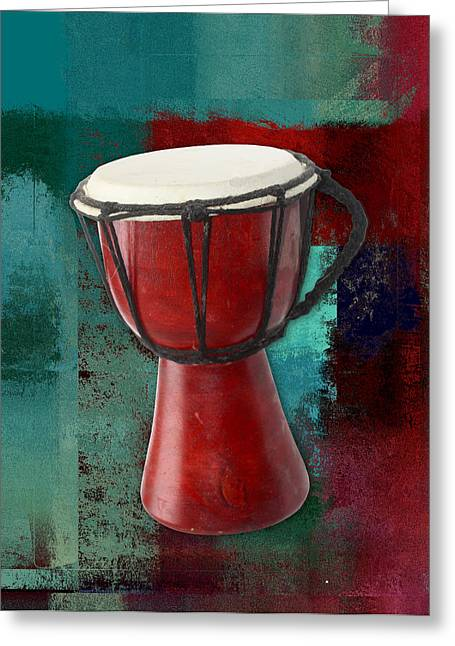 Intruments Greeting Cards - Tam Tam Djembe - s03ab02 Greeting Card by Variance Collections