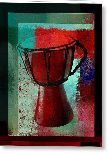 Intruments Greeting Cards - Tam Tam Djembe - s222a Greeting Card by Variance Collections