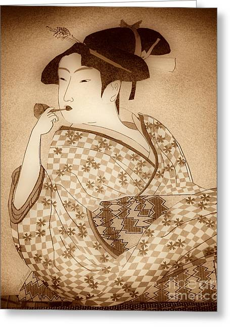 Reception Greeting Cards - Tamako  Greeting Card by Cheryl Young