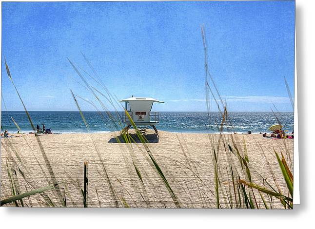 Tamarack Beach Greeting Card by Ann Patterson