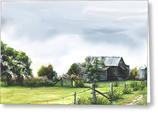 Old Fence Posts Digital Greeting Cards - Tamaree 2 Greeting Card by Lynne Wilson