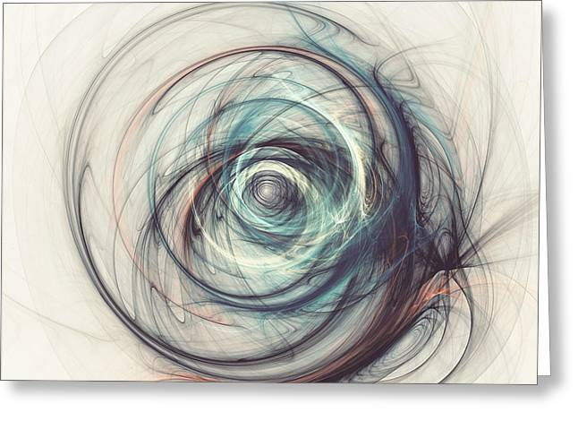 Framed Fractal Prints Greeting Cards - Tamed power Greeting Card by Martin Capek