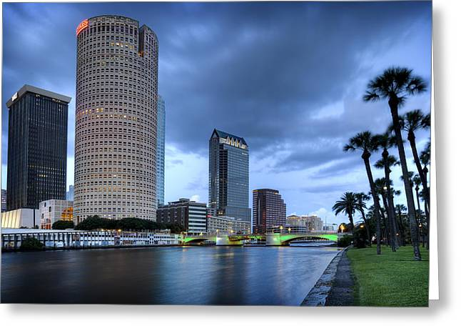 St Petersburg Florida Greeting Cards - Tampa 1 Greeting Card by Al Hurley