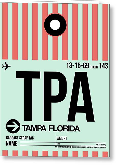 Tampa Greeting Cards - Tampa Airport Poster Greeting Card by Naxart Studio