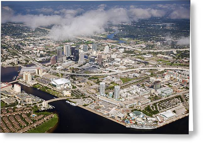 St Petersburg Florida Greeting Cards - Tampa Greeting Card by Al Hurley