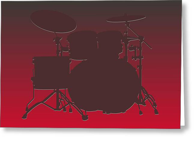 Drum Greeting Cards - Tampa Bay Buccaneers Drum Set Greeting Card by Joe Hamilton