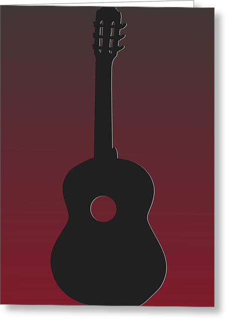 Buccaneer Greeting Cards - Tampa Bay Buccaneers Guitar Greeting Card by Joe Hamilton