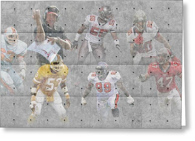 Offense Greeting Cards - Tampa Bay Buccaneers Legends Greeting Card by Joe Hamilton