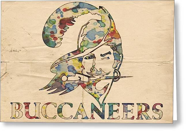 Tampa Bay Buccaneers Old Logo Greeting Card by Florian Rodarte