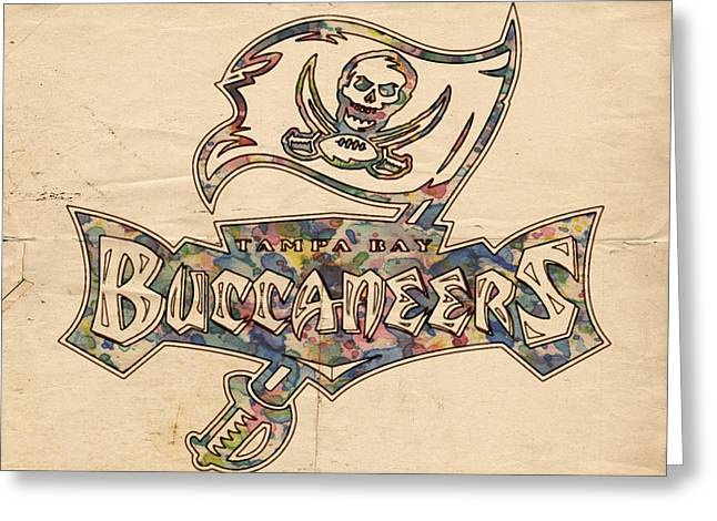 Tampa Bay Buccaneers Old Poster Greeting Card by Florian Rodarte