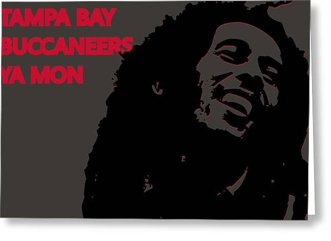 Tampa Bay Buccaneers Ya Mon Greeting Card by Joe Hamilton