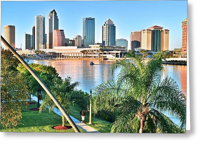 Buccaneer Greeting Cards - Tampa Bay Florida Greeting Card by Frozen in Time Fine Art Photography