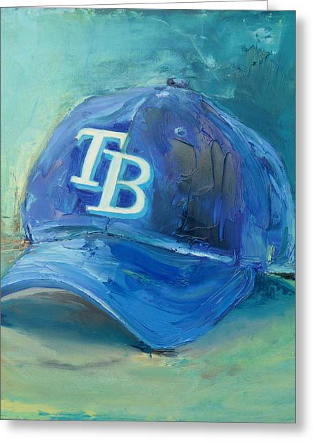 American League Greeting Cards - Tampa Bay Rays Greeting Card by Lindsay Frost