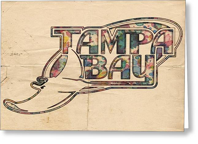 Devil Ray Greeting Cards - Tampa Bay Rays Poster Art Greeting Card by Florian Rodarte