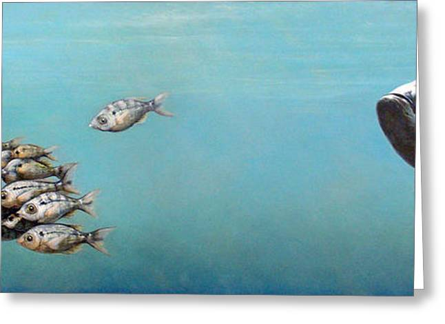 Gamefish Greeting Cards - Tampa Bay Tarpon Greeting Card by Joan Garcia