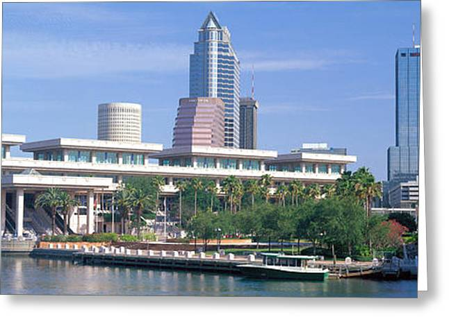 Convention Center Greeting Cards - Tampa Convention Center, Skyline Greeting Card by Panoramic Images