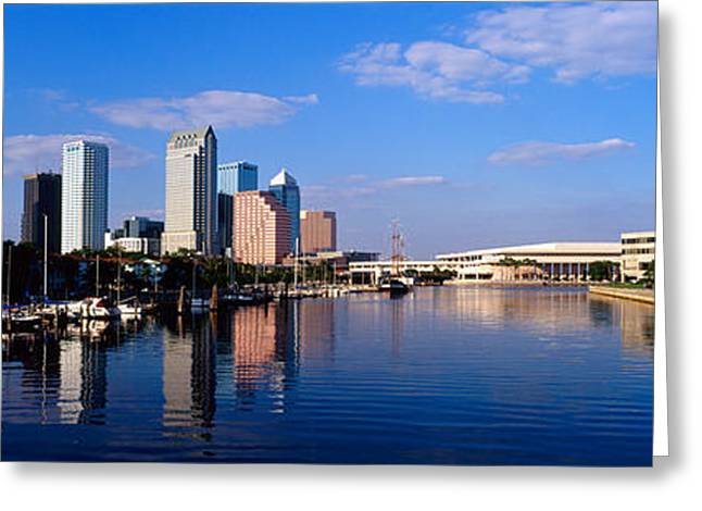 Center City Greeting Cards - Tampa Fl Greeting Card by Panoramic Images