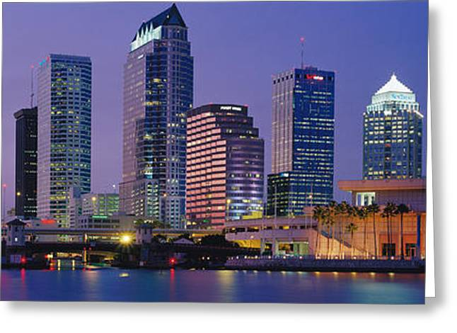 Convention Center Greeting Cards - Tampa Fl Usa Greeting Card by Panoramic Images