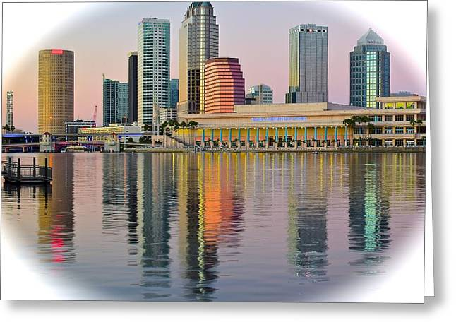 Buccaneer Greeting Cards - Tampa in the Spotlight Greeting Card by Frozen in Time Fine Art Photography