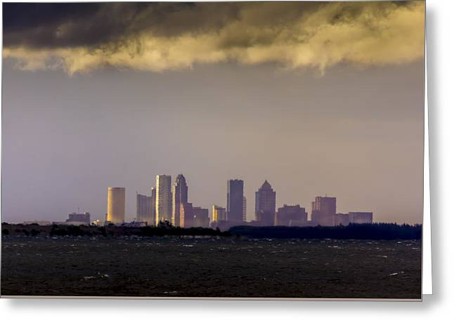 Tampa On The Horizon Greeting Card by Marvin Spates