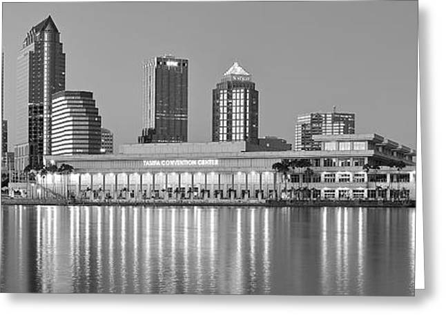 Buccaneer Greeting Cards - Tampa Panorama Greeting Card by Frozen in Time Fine Art Photography