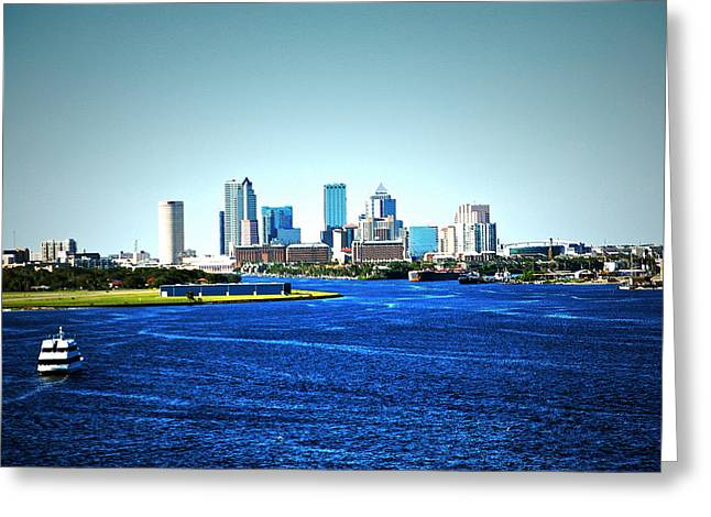 Tampa Skyline Greeting Card by Aimee L Maher Photography and Art Visit ALMGallerydotcom