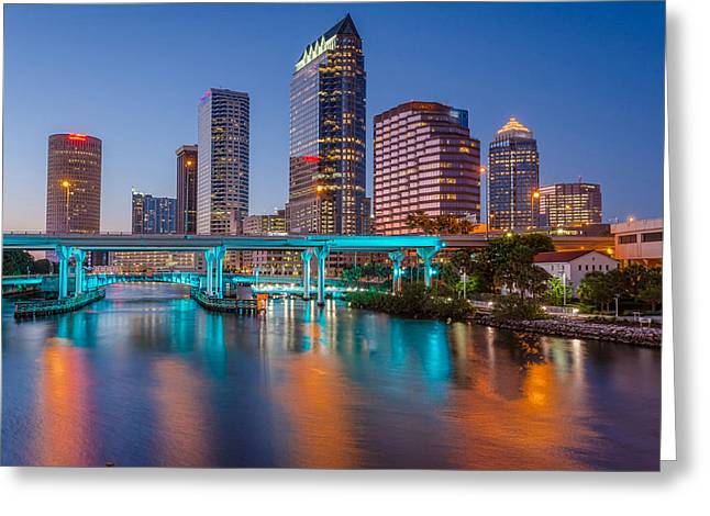 Tampa Skylines Greeting Card by RB Art