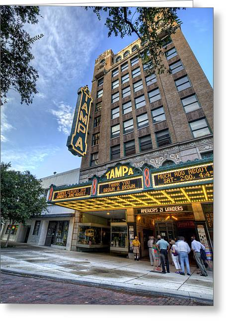 River Scenes Photographs Greeting Cards - Tampa Theater 2 Greeting Card by Al Hurley