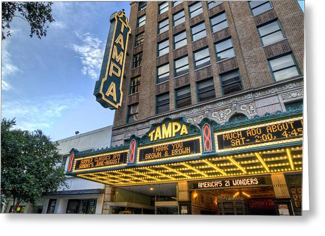 Tampa Theater 2 Greeting Card by Al Hurley