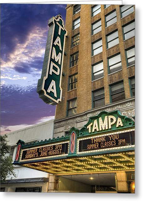 St Petersburg Florida Greeting Cards - Tampa Theater Greeting Card by Al Hurley