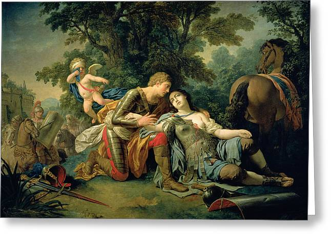 Saracen Greeting Cards - Tancred And Clorinda, 1761 Oil On Canvas Greeting Card by Louis Jean Francois I Lagrenee