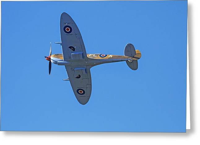 Tandem Supermarine Spitfire Trainer  - Greeting Card by David Wall