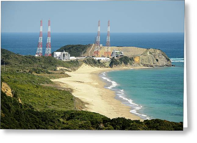 Tanegashima Space Center Greeting Card by Nasa/bill Ingalls