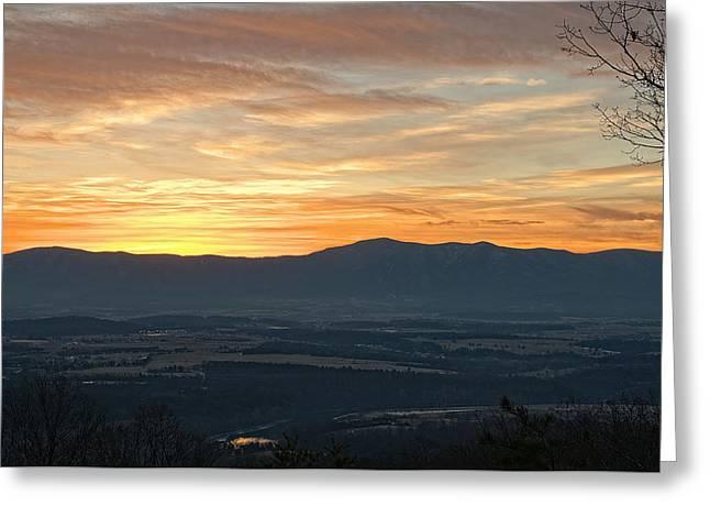 Tangerine Greeting Cards - Tangerine Blue Ridge Skies Greeting Card by Lara Ellis