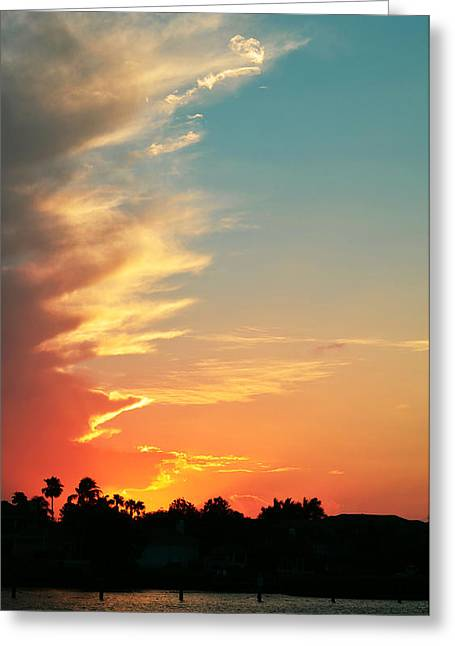 Florida House Greeting Cards - Tangerine Dream Greeting Card by Laura  Fasulo