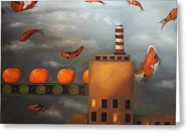 Tangerine Dream Greeting Card by Leah Saulnier The Painting Maniac