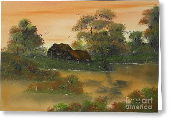 Fall Colors Greeting Cards - Tangerine Dreams at Fall. Greeting Card by Cynthia Adams