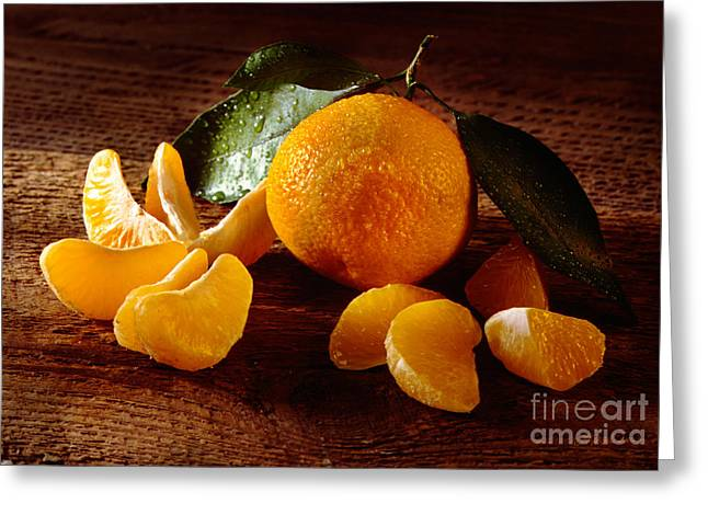 Fineartprint Greeting Cards - Tangerine Greeting Card by Iris Richardson