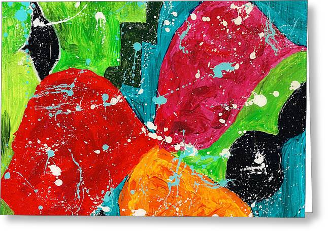 Tangerines Mixed Media Greeting Cards - Tangerine Greeting Card by Shirley Barone