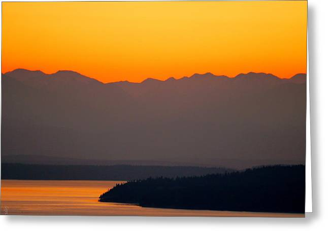Tangerine Greeting Cards - Tangerine Sky Greeting Card by Christopher Fridley