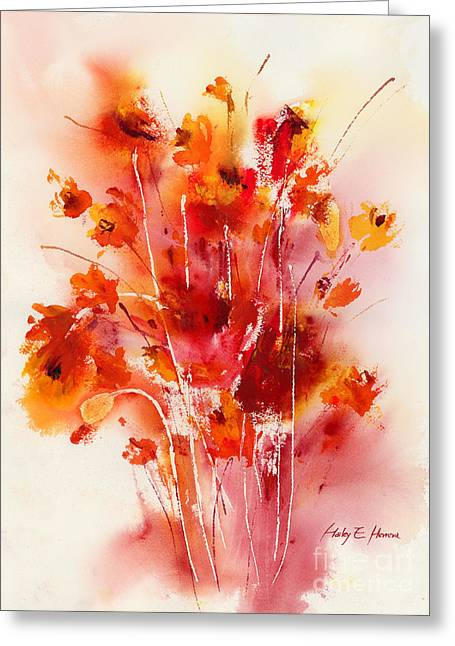 Poppies Home Decor Greeting Cards - Tangerine Tango Greeting Card by Hailey E Herrera