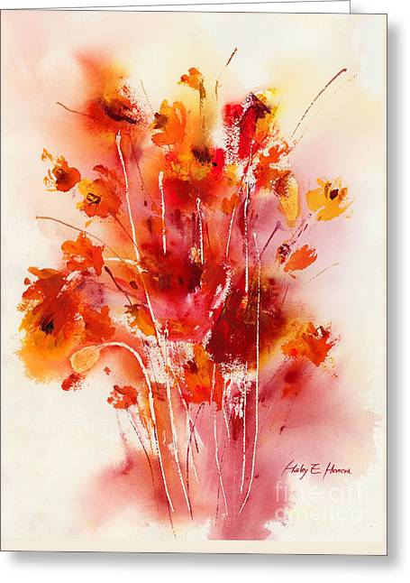 Autumn Prints Greeting Cards - Tangerine Tango Greeting Card by Hailey E Herrera