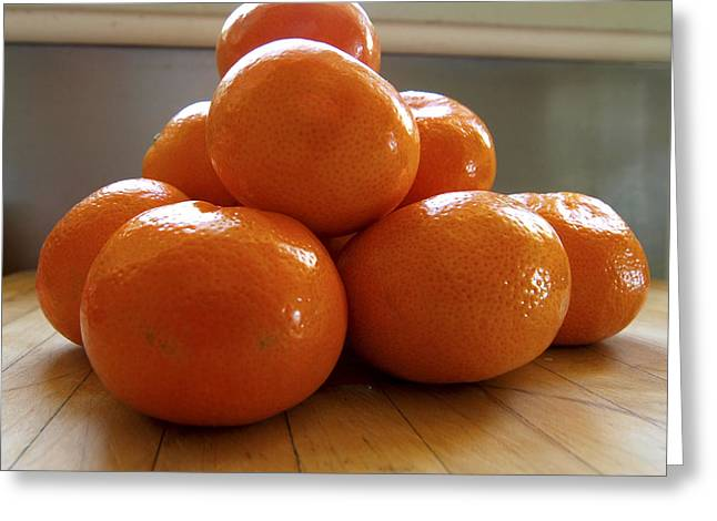 Still Life With Tangerines Greeting Cards - Tangerined Greeting Card by Joe Schofield